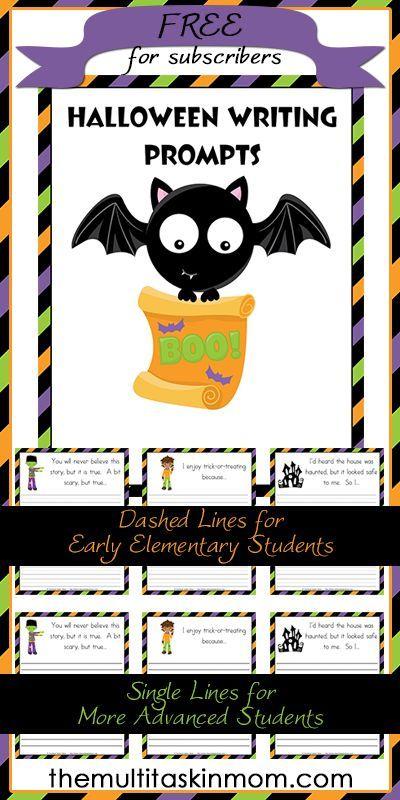Halloween Writing Prompts FREE Halloween writing prompts and - halloween writing ideas