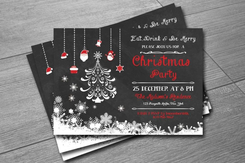 30+ Christmas Invitation Template and Christmas Party Invitation - christmas invitation template