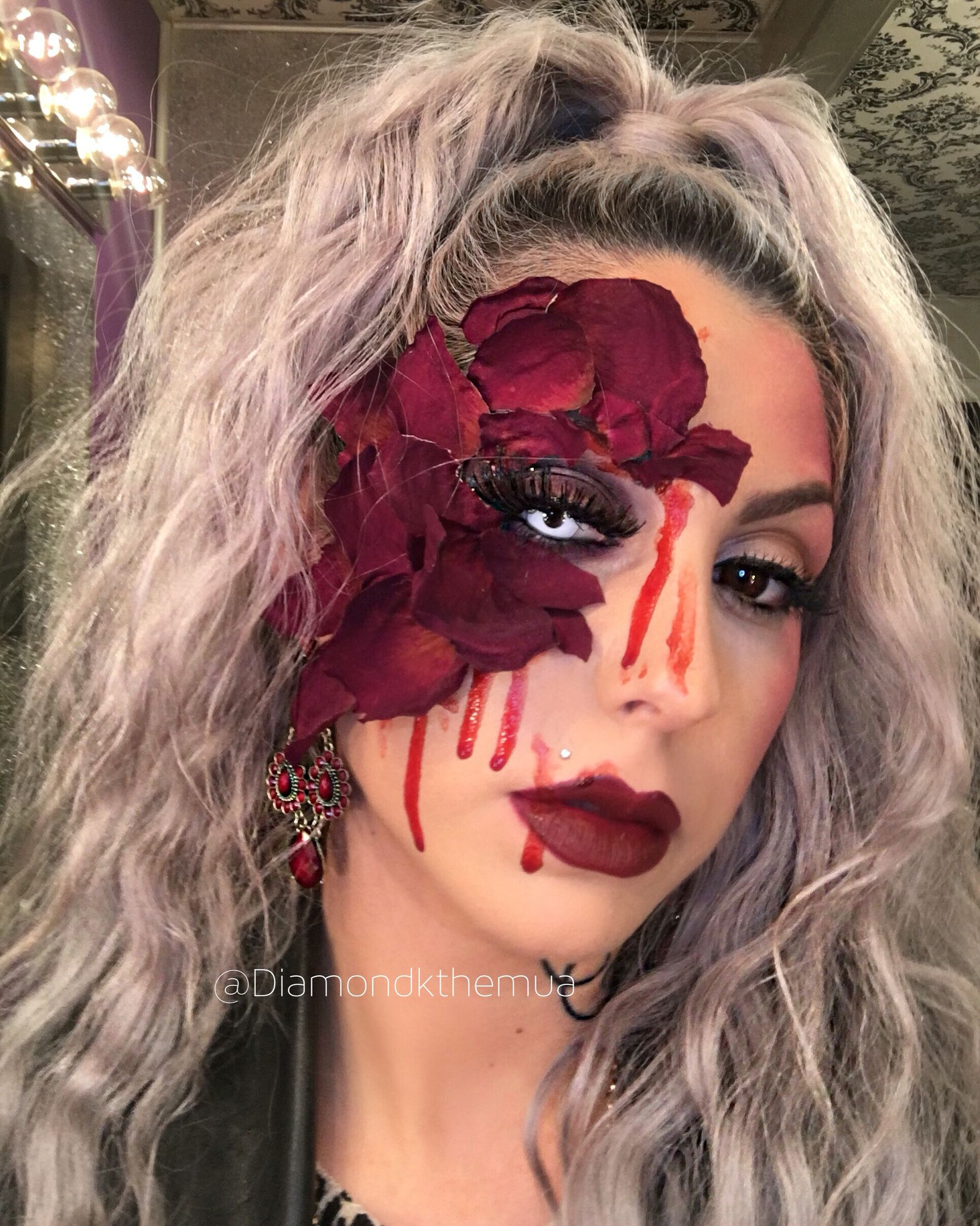 lovesick Valentine's Day inspired avantgarde makeup with