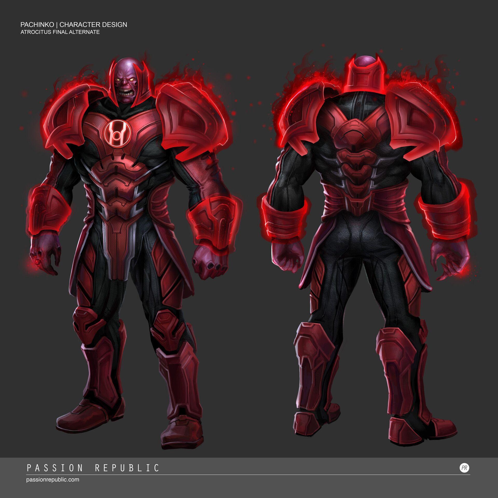 Artstation Injustice 2 Atrocitus Siewhong Lum Dc Comics Heroes Red Lantern Corps Superhero Art