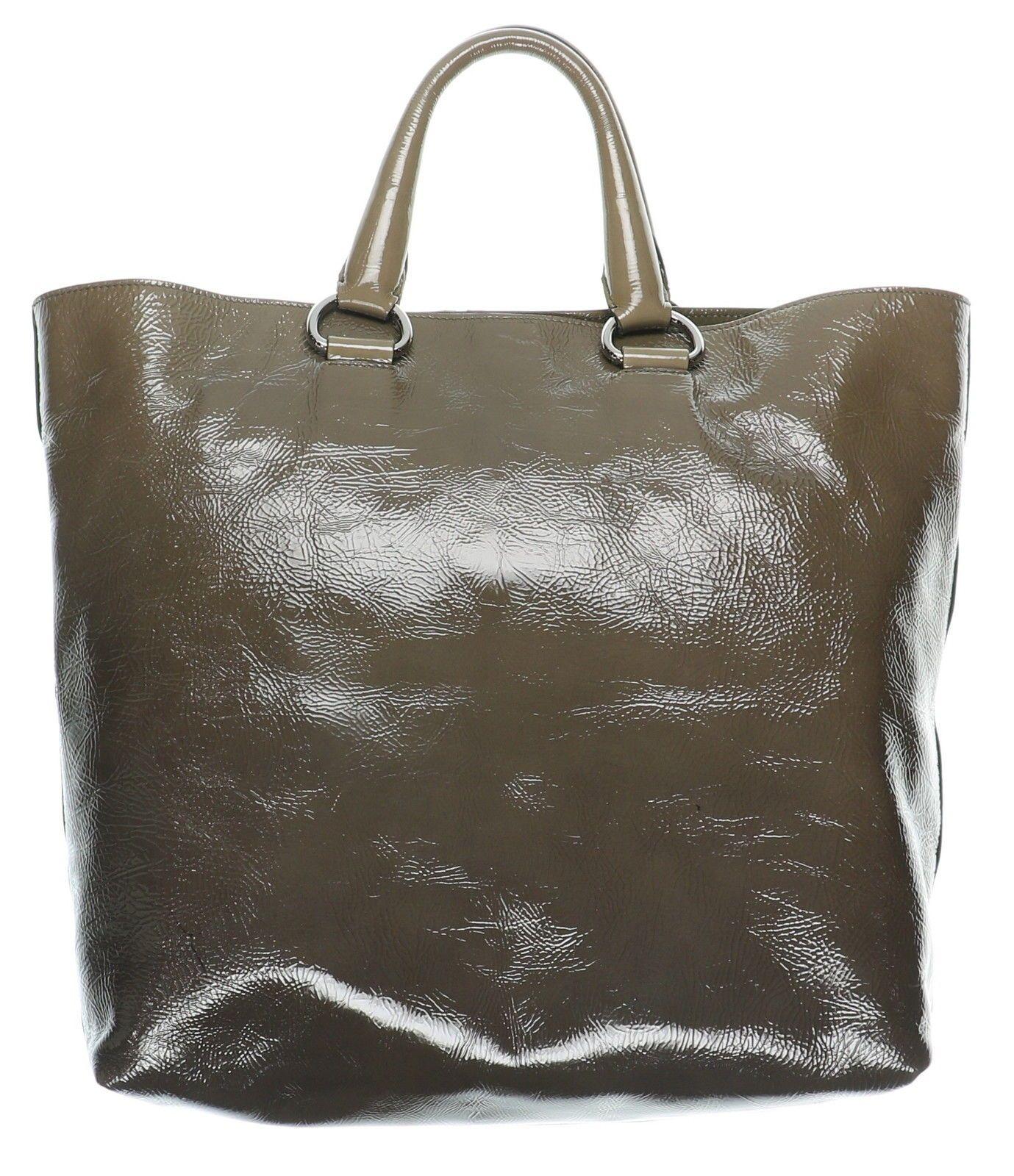 57e947e5d08d13 ... coupon code for womens prada sfumato vernice ombre patent leather tote  bag w double strap 300.99