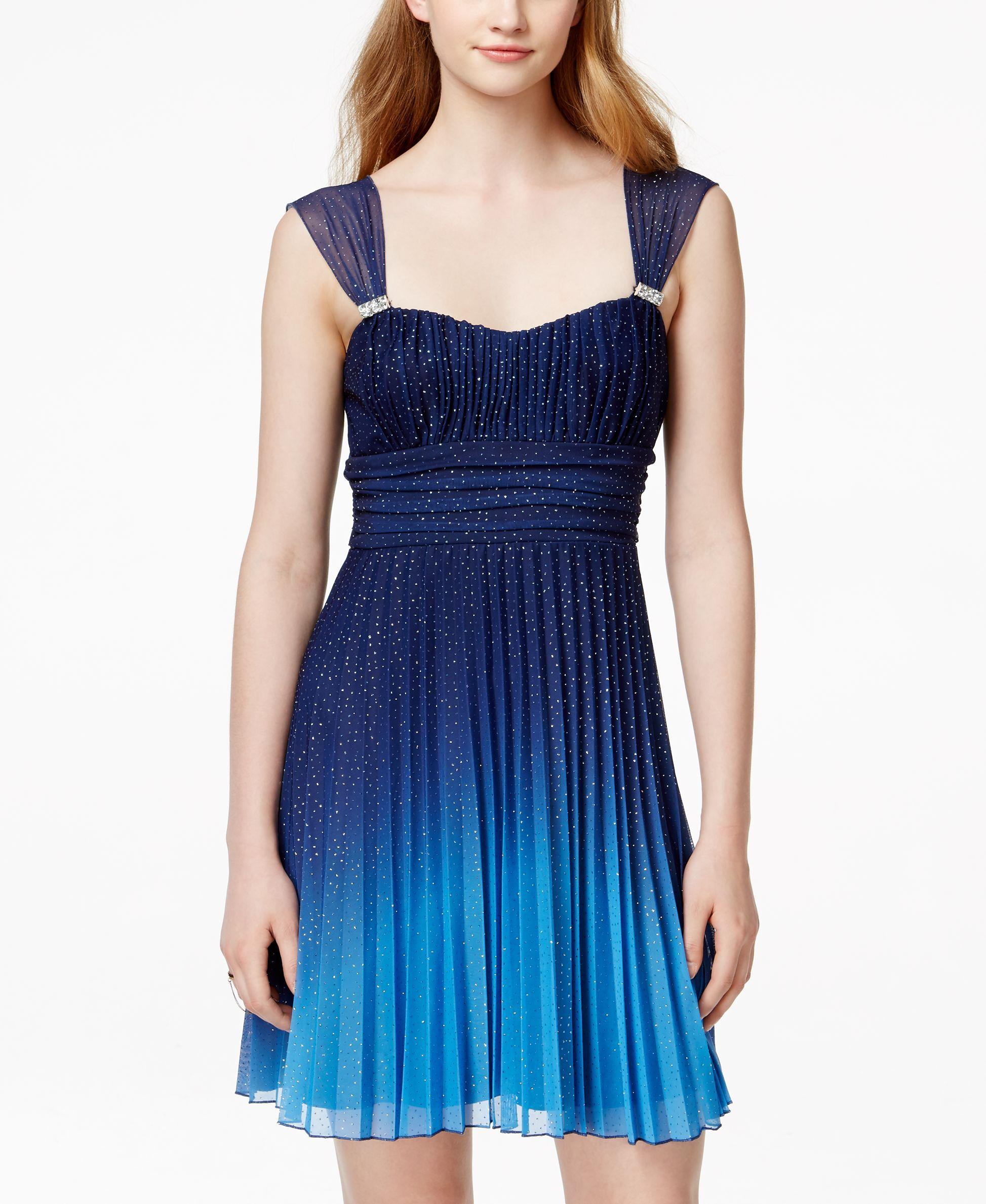 Speechless Juniors\' Glittered Ombre Dress | Ballkkeider | Pinterest