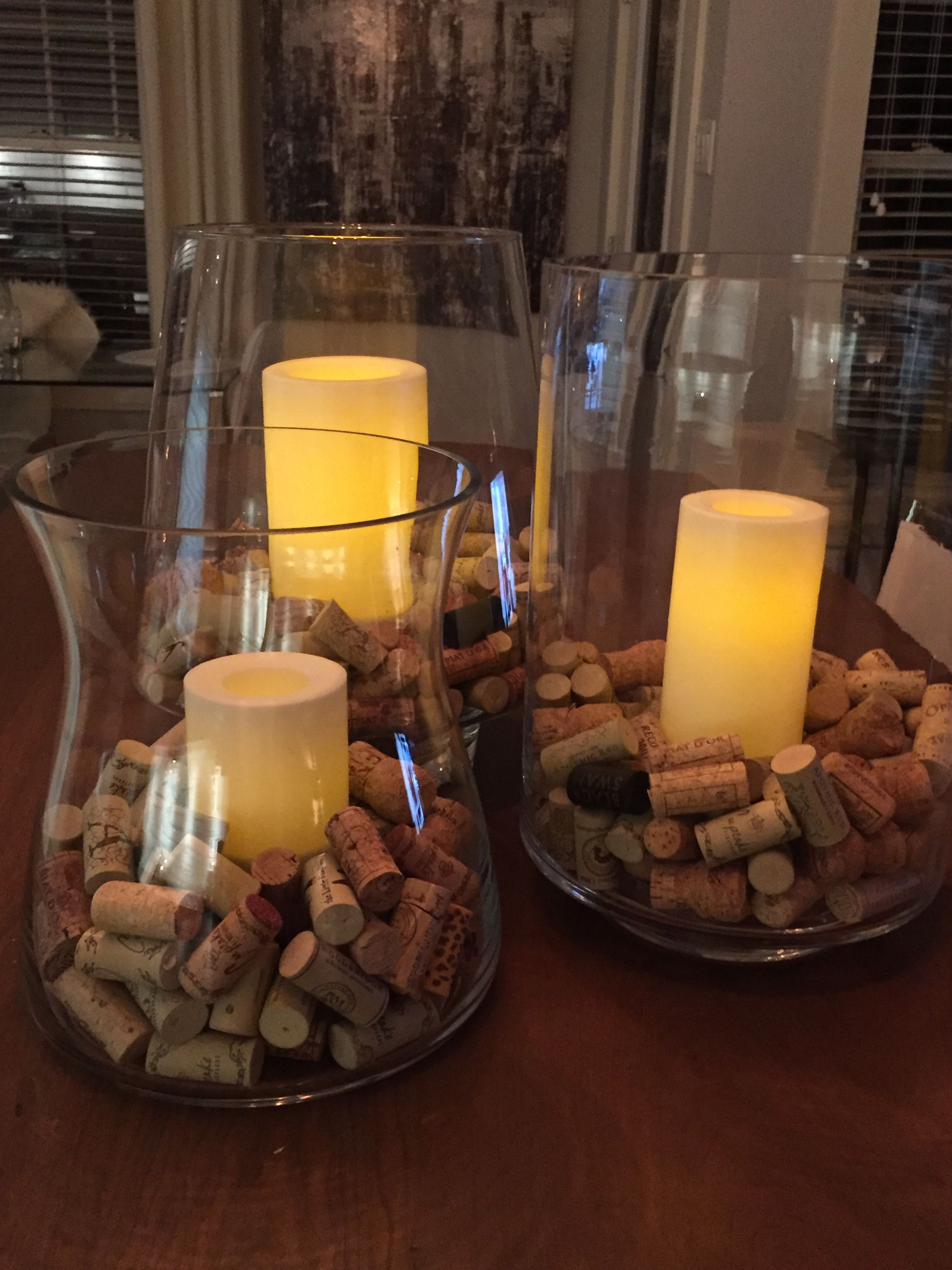Decorating with wine corks