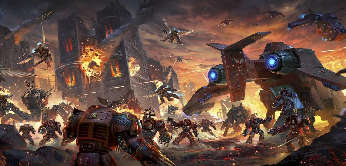 40k 30k Imperial Wallpapers Album On Imgur Warhammer Art Warhammer Space Marine Art