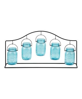 Five-Light Hanging Mason Jar Candleholder