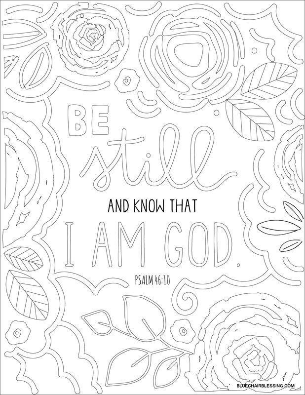 Be still and know that I am God. Downloadable coloring page from ...