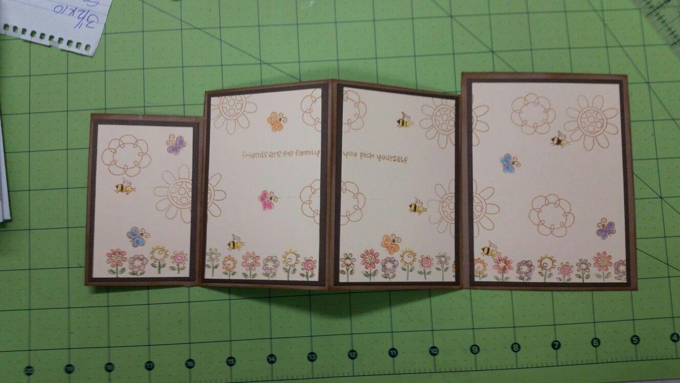 Four fold card inside