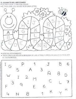 Fichas Para Primaria Ficha Del Abecedario Para Colorear Sopa De Letras Para Ninos Letras Para Ninos Ninos De Preescolar