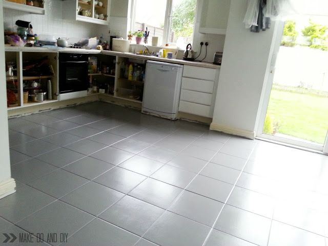 How To Paint A Tile Floor And What You Should Think About Before You Do Www Makedoanddiy Com Kitchen Flooring Tile Floor Painting Ceramic Tile Floor