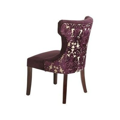Hourglass Dining Chair Purple Damask by 0  diningroom
