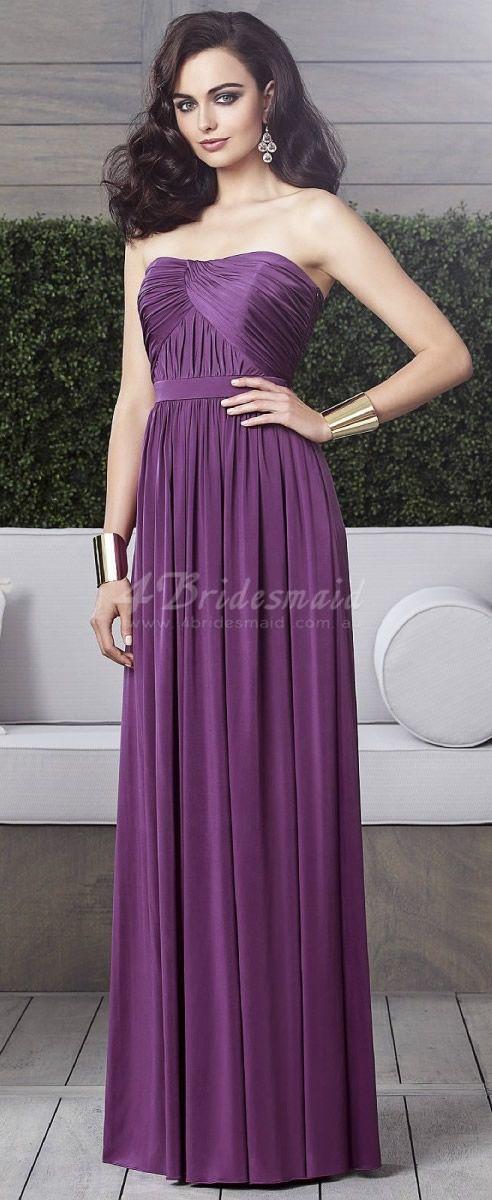 purple bridesmaid dresses | Dream Wedding | Pinterest