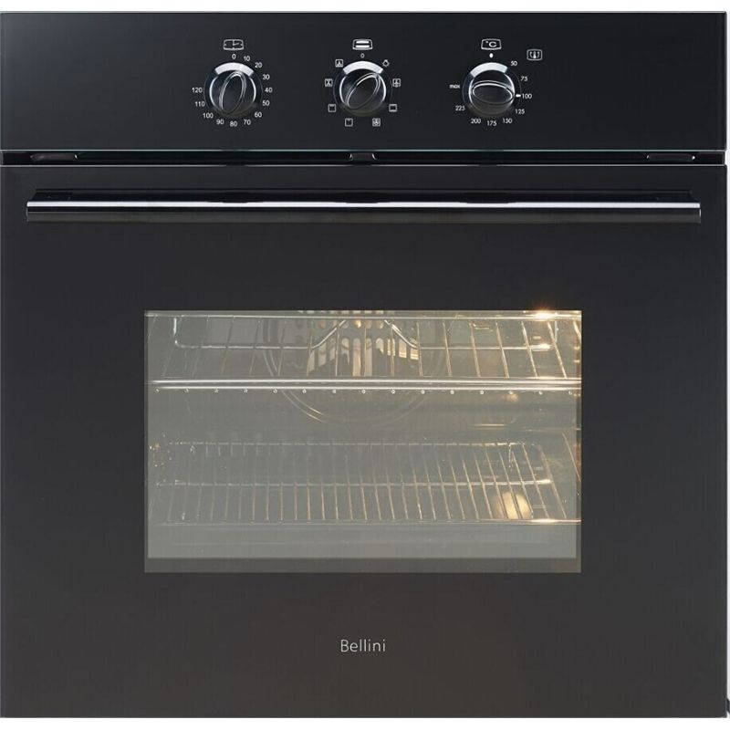 Find Bellini 60cm 60L Black 8 Function Built In Oven at Bunnings ...
