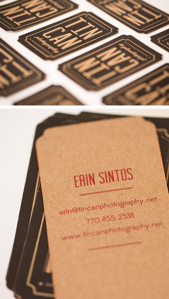Standing out as a photographer 16 of the best photography business vintage business card design with gold edge painting for tin can photography reheart Choice Image