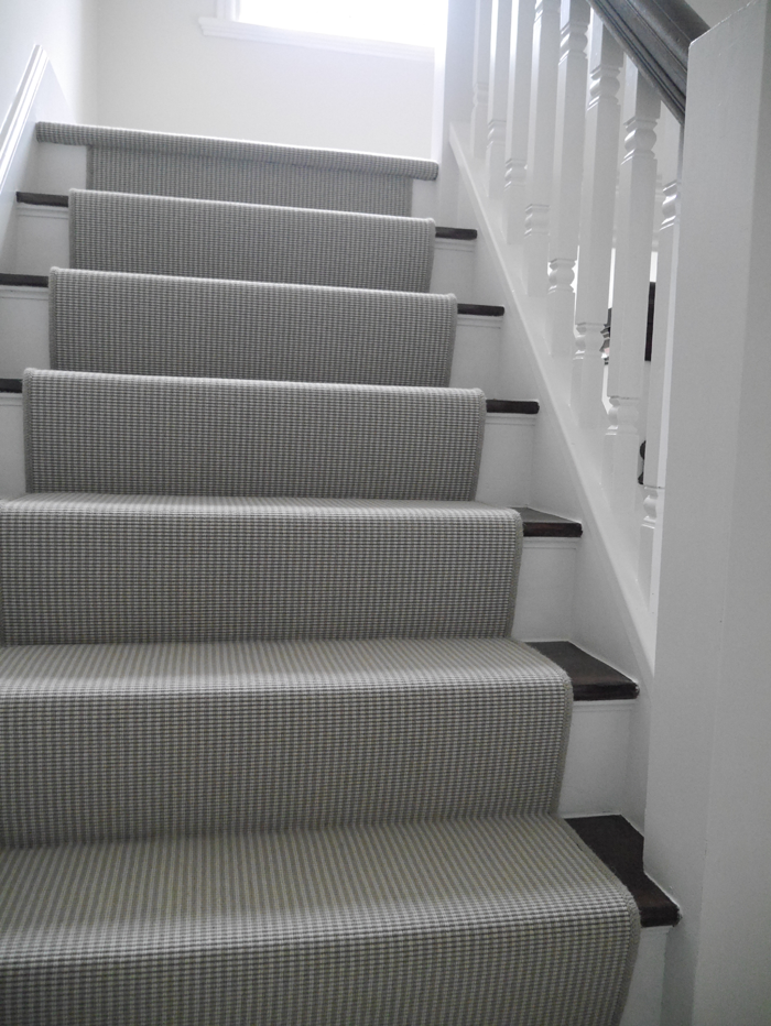 Grey Carpet Black And White Stairs Runner Google Search Black   White Stairs With Carpet   Chocolate Brown   Oak   Solid Colour   Colour   Landing