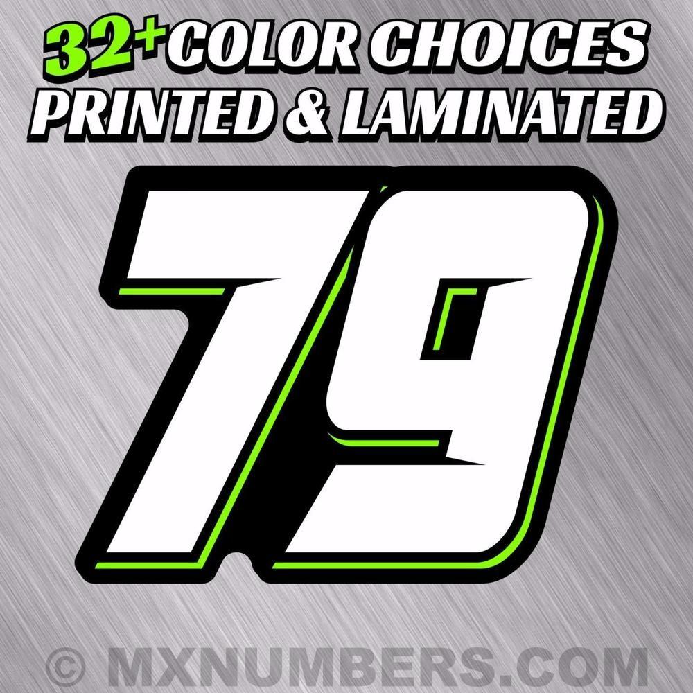 4 color mx number plate decals sticker graphics motorcycle sx dirt bike kart atv mxnumberscom