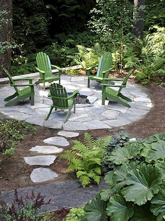 36 Amazing Garden Structure Design Ideas -   24 small garden fire pit ideas