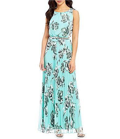 ea9c2d86d Jessica Howard Petite FloralPrint Pleated Maxi Dress #Dillards ...
