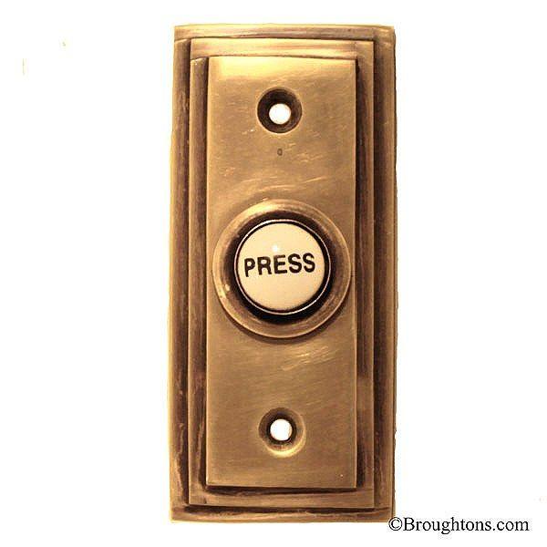 Sc 1 St Pinterest - Edwardian Door Bell & 1920u0027s Brass U0026 Ceramic Electric Door