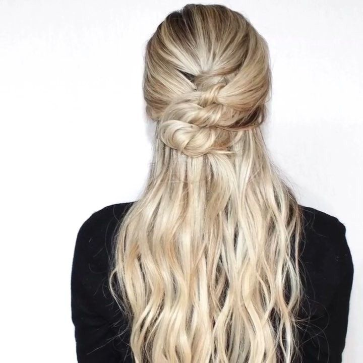 How To Knotted Half Up Instahair Hairvideo