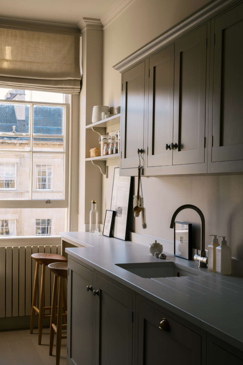 Shaker Galley Kitchen: a Stylish Small Design by deVol for the Founders of Cereal Magazine