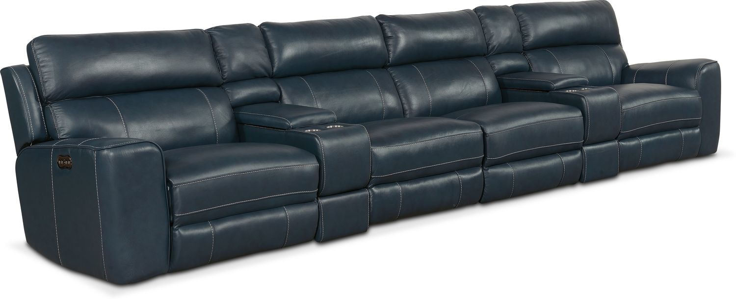 Tremendous Newport 6 Piece Power Reclining Sectional Sofa With 4 Gamerscity Chair Design For Home Gamerscityorg