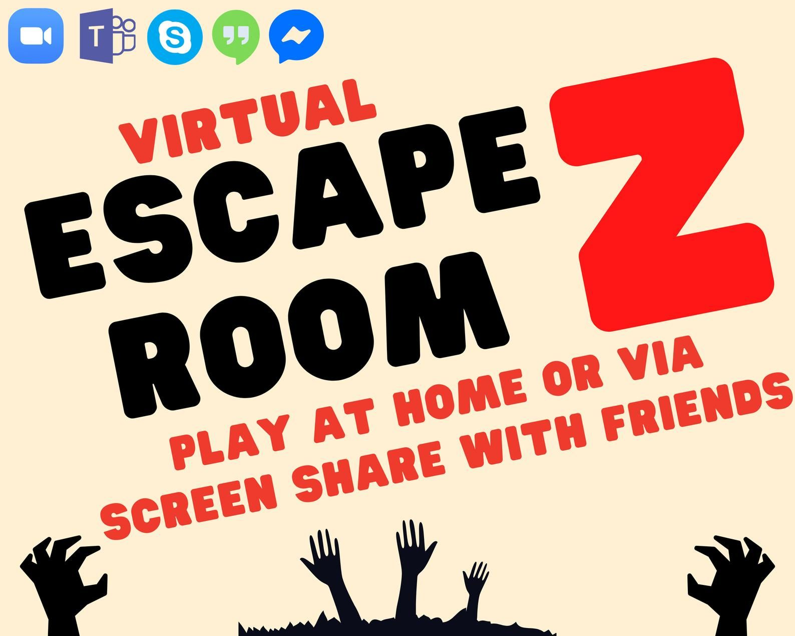 Virtual Escape Room Games Night Lockdown Zoom Screen