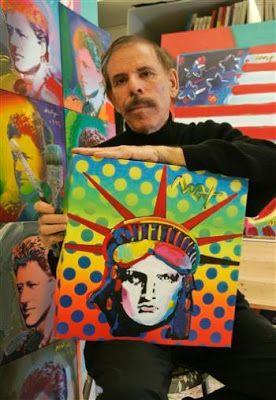 Peter Max (nacido Peter Max Finkelstein 19 de octubre de 1937) es un ilustrador americano de origen alemán y artista gráfico, conocido por el uso de psicodélicos formas y paletas de colores, así como espectros en su obra.