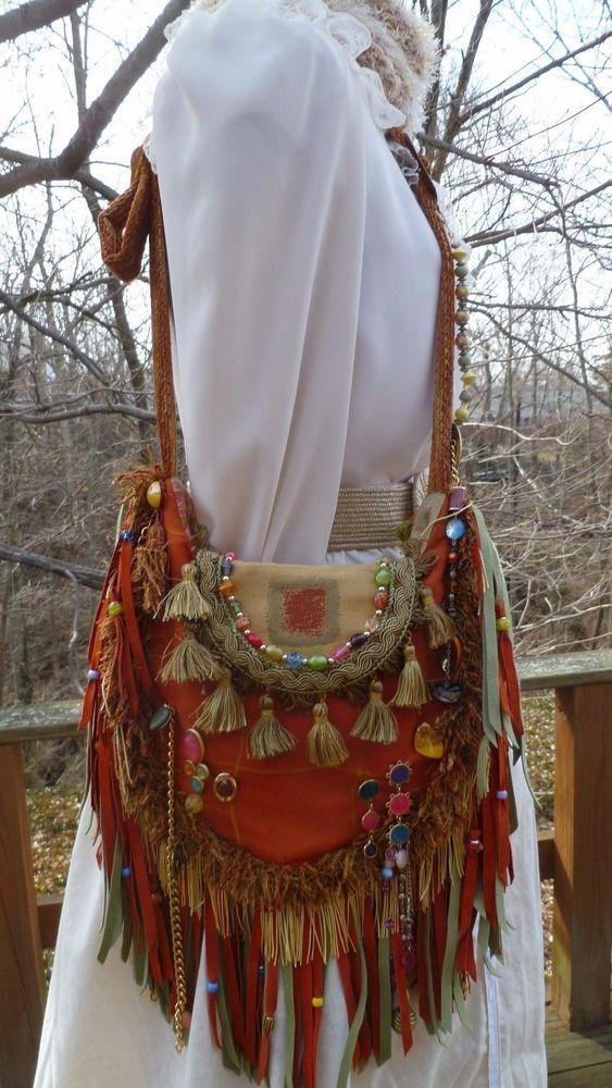 Handmade Bag Hippie Gypsy Cross Body Boho Hobo Ibiza Genuine Vegan Suede Wow