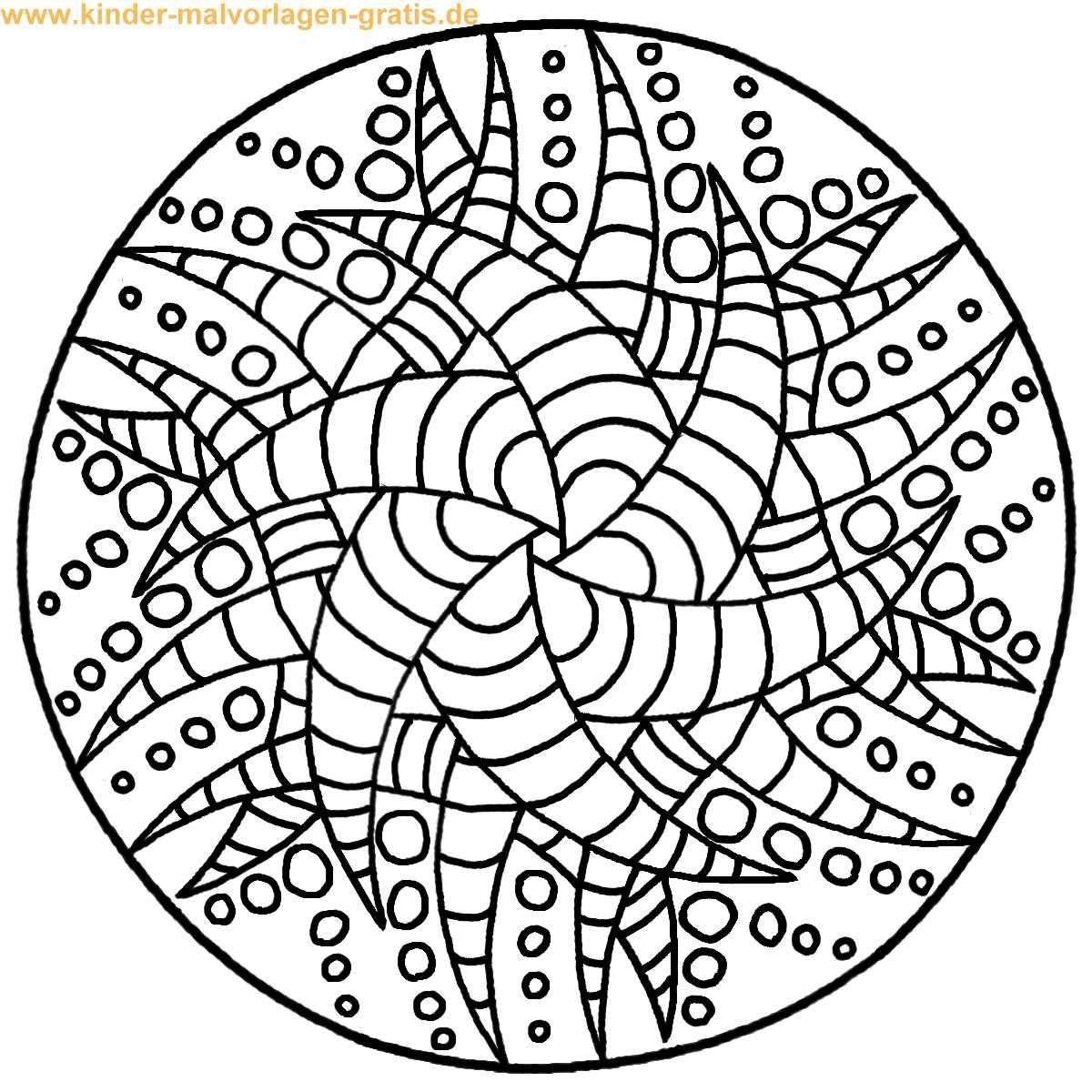 Ausmalbild Mandala zum ausdrucken | Anleitungen | Pinterest | Mandalas