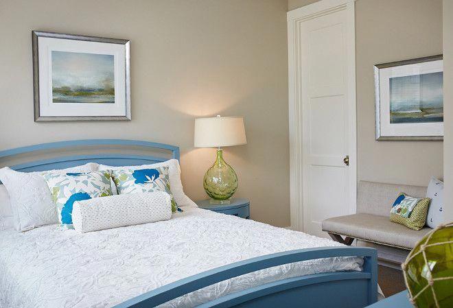 coastal bedroom painted in revere pewterbenjamin moore