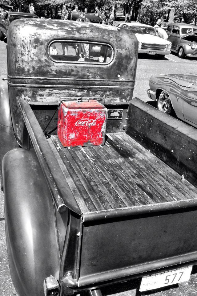 Old trucks & Coca Cola.