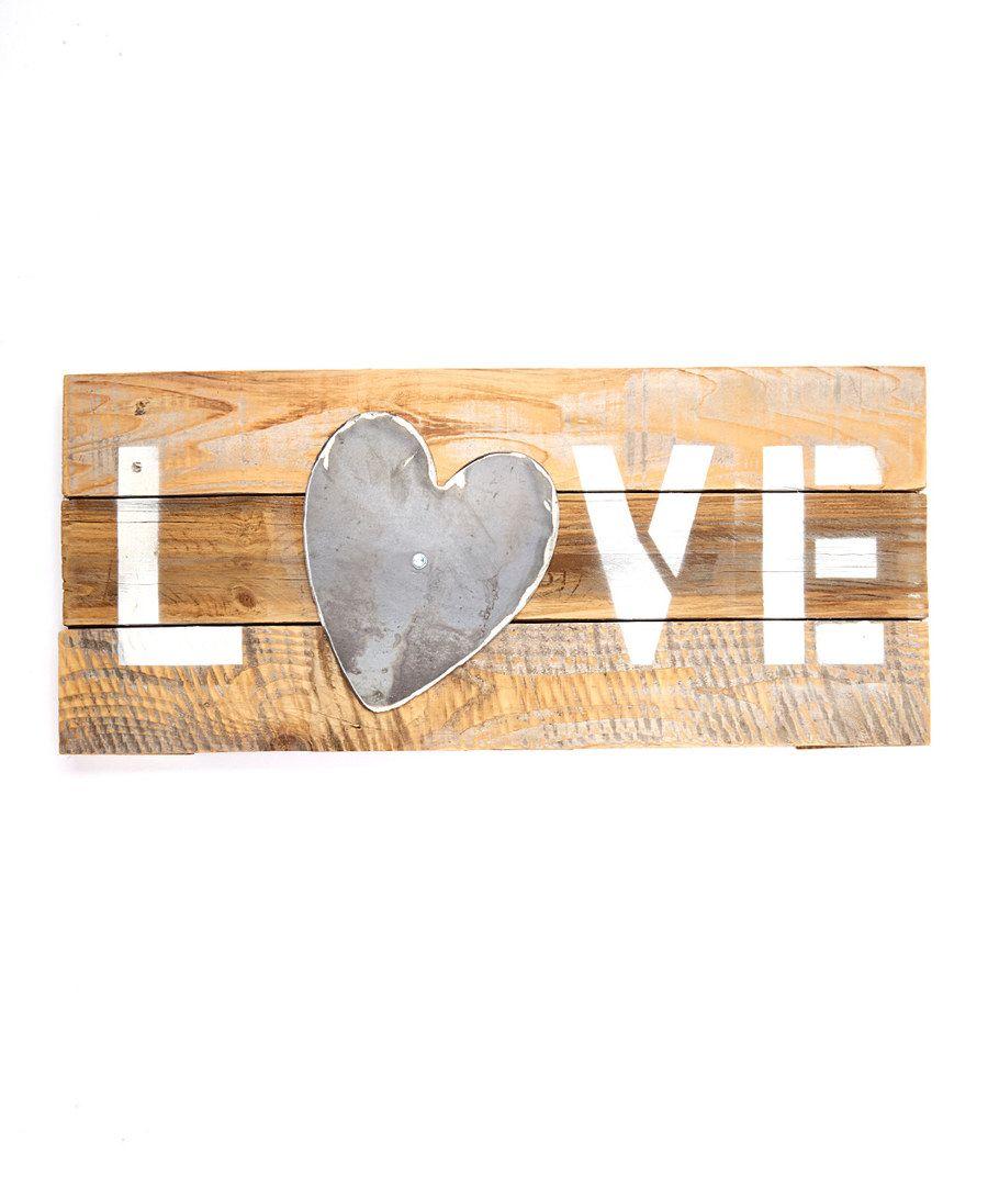 Reclaimed Wood Love Heart Wall Plaque Heart Wall Wall Signs Word Wall Decor