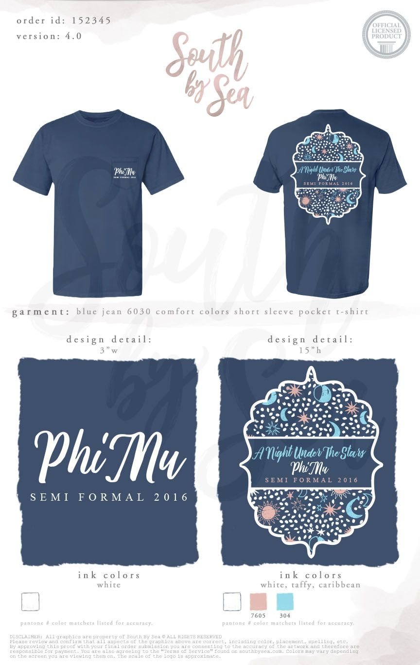 0a8ce5866 Rush Shirts · Phi Mu | Semi Formal | Holiday | Ornaments | A Night Under  the Stars