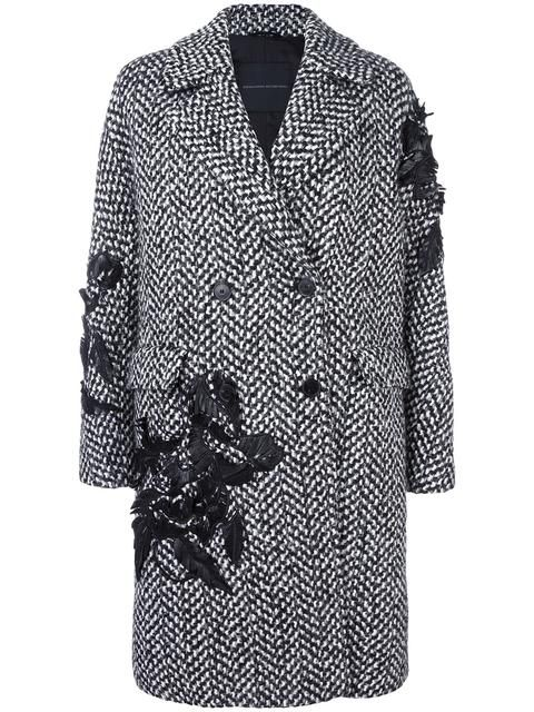 Shop Ermanno Scervino double-breasted embellished coat in Loschi from the world's best independent boutiques at farfetch.com. Shop 400 boutiques at one address.