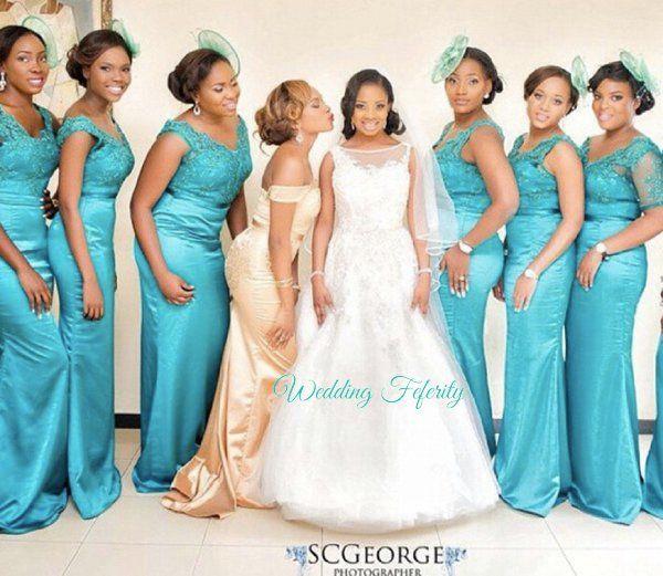 Blue Bridesmaids Dresses for Nigerian Weddings | wedding thing ...