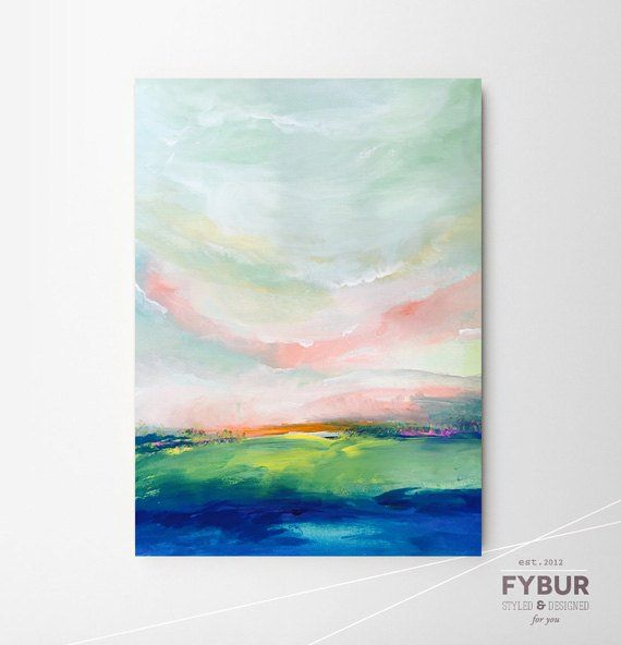 16 X 20 Large Abstract Landscape Giclee Art Print Of