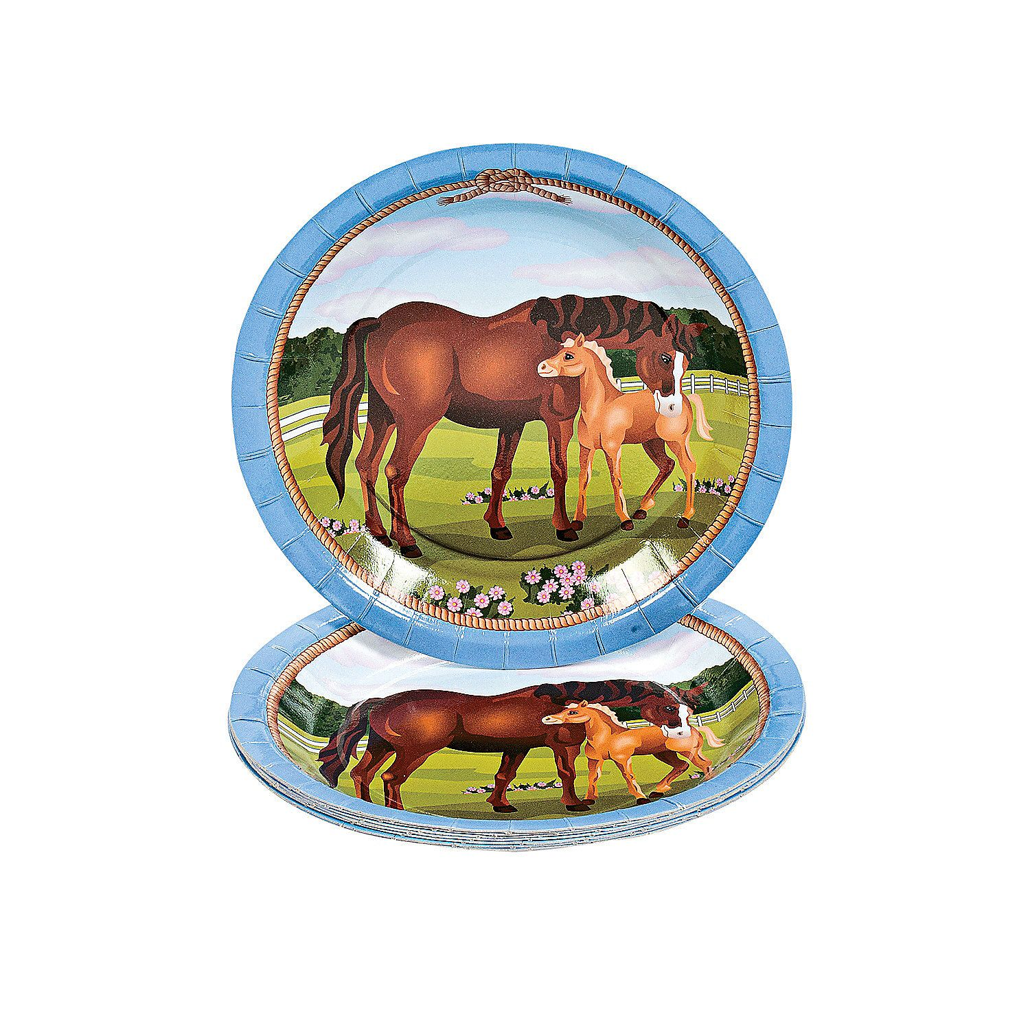HORSE MARE AND FOAL 8 PACK OF INVITATIONS FOR BIRTHDAY Party ...