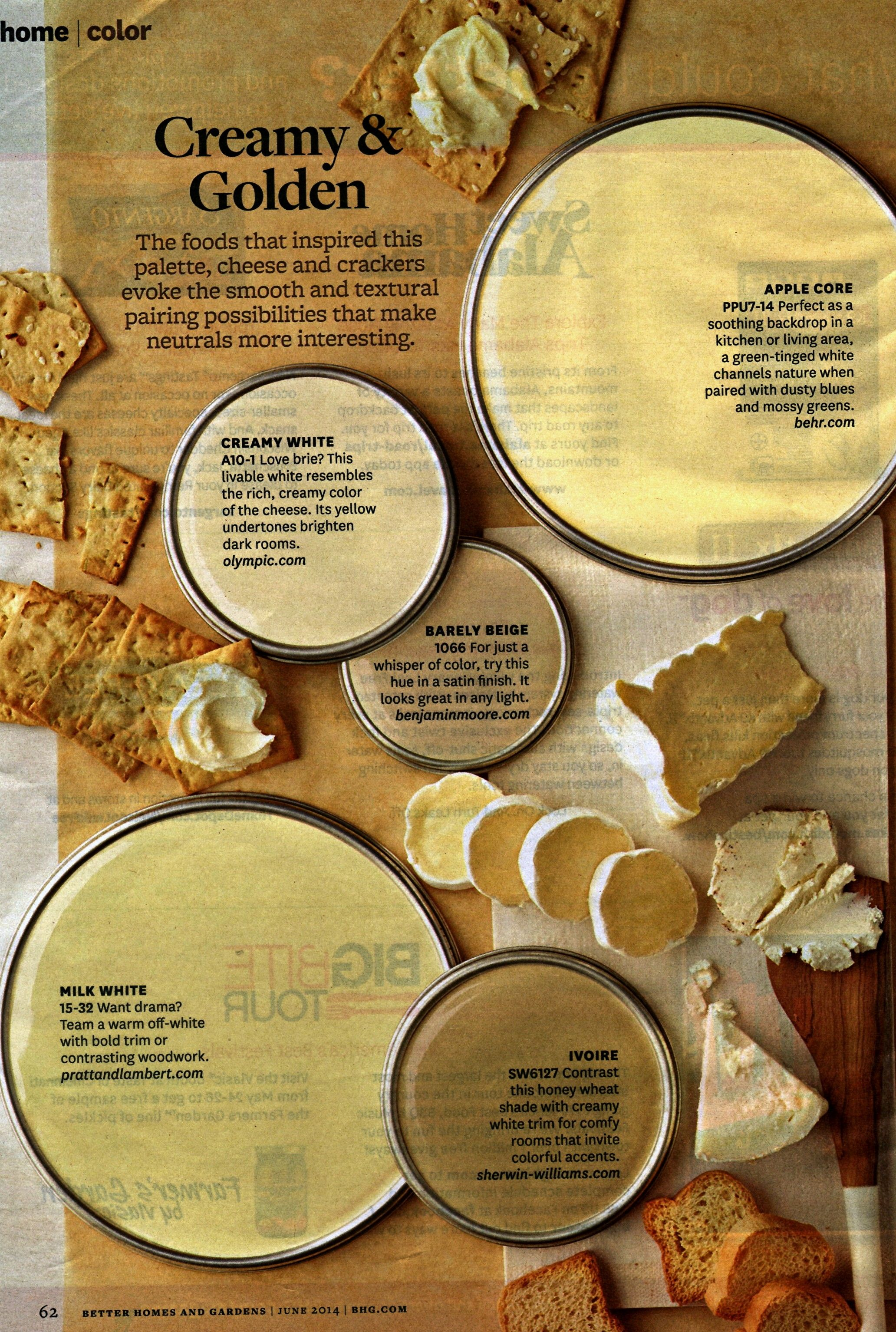 Paint Colors Creamy And Golden From Bhg Far From Perfect Because It Is Scanned And Uploaded
