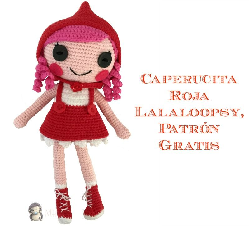 Patrón gratis para realizar una caperucita roja Lalaloopsy, ideal ...