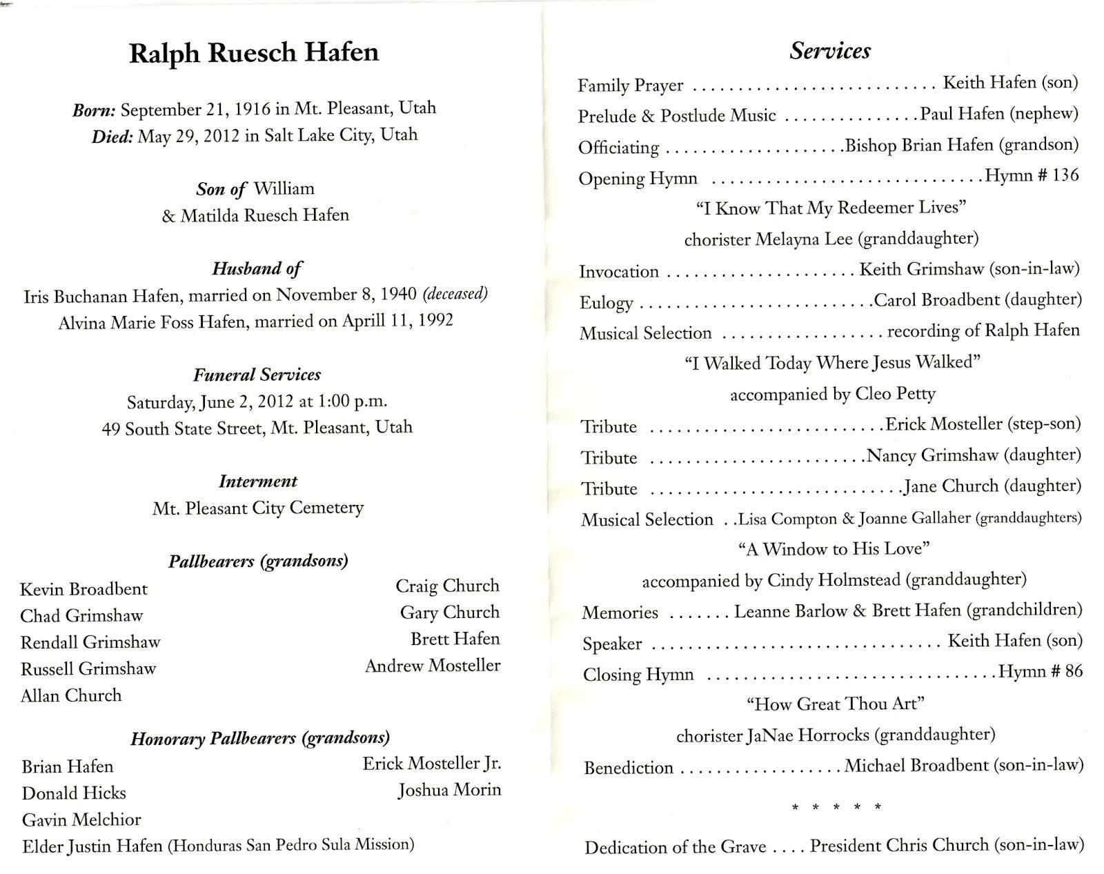 Funeral Program Template Lds Is Funeral Program Template