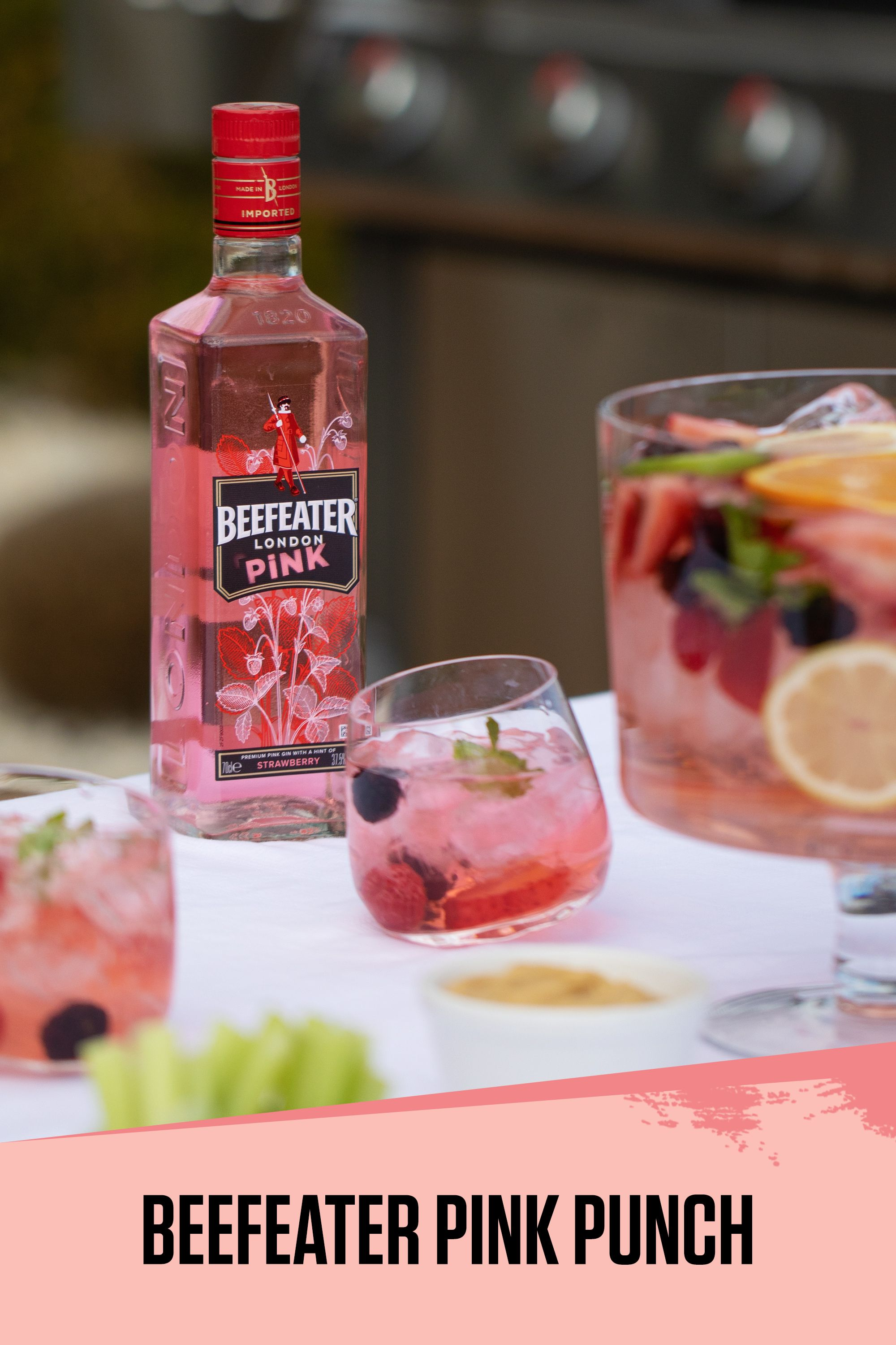 Enjoy Your Summer Bbqs With The Unique And Fruity Beefeater Pink Punch Recipe Pink Punch Recipes Gin Punch Recipe Pink Party Drinks
