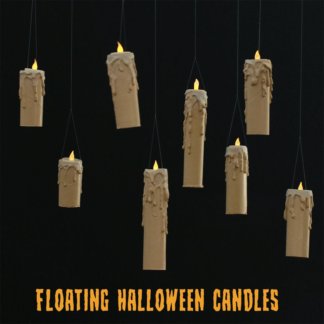Turn your home into a haunted house with this floating candle DIY - cool homemade halloween decorations