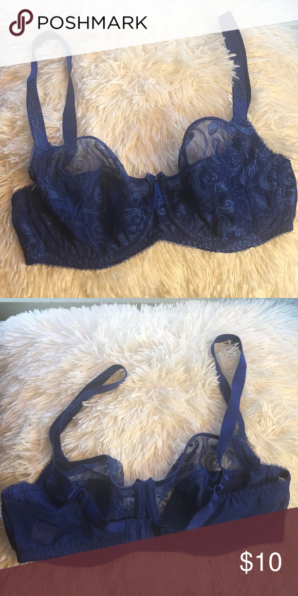d14efd59e47b5 Fantasie Bra Royal blue lace Size 30E Gently worn Send me an offer and I'll  consider it! Fantasie Intimates & Sleepwear Bras