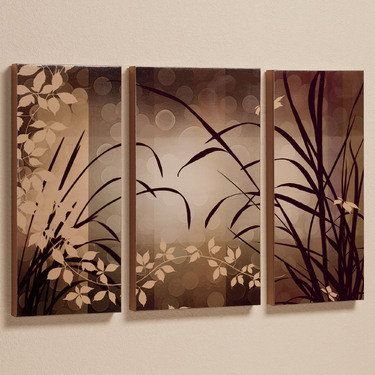 Celebrate Elegance Triptych Canvas Wall Art Set