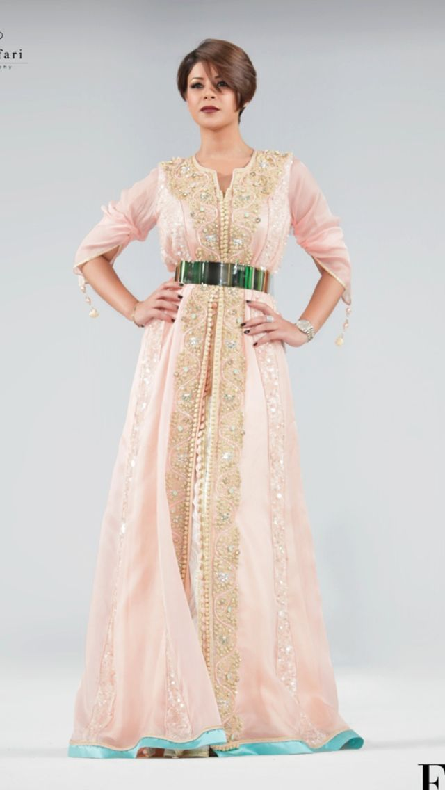 Caftan rose claire <3 | Traditionnal Morrocan caftans| قفطان ...