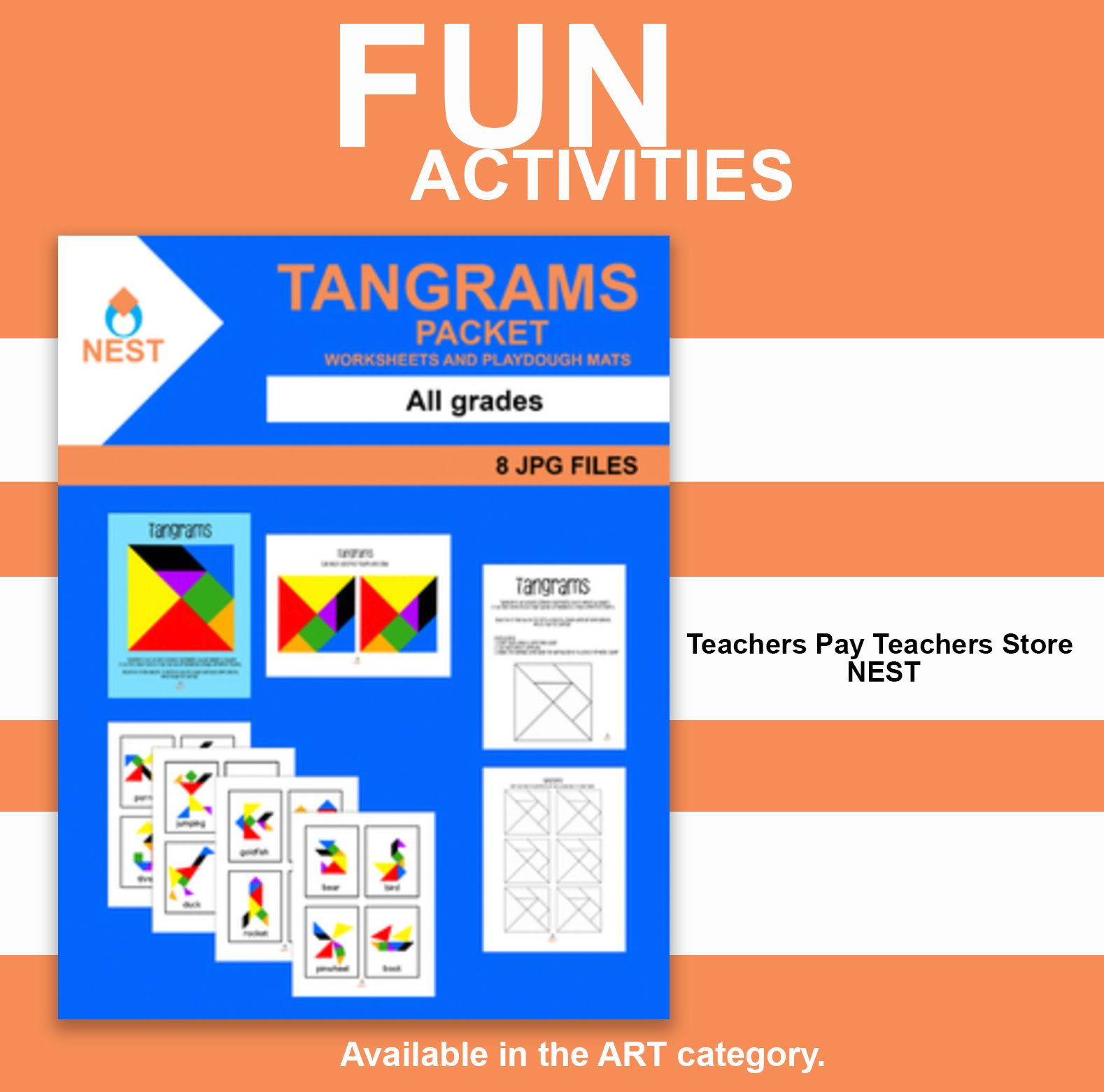 Tangrams Packet For All Grades Center Game With Worksheet