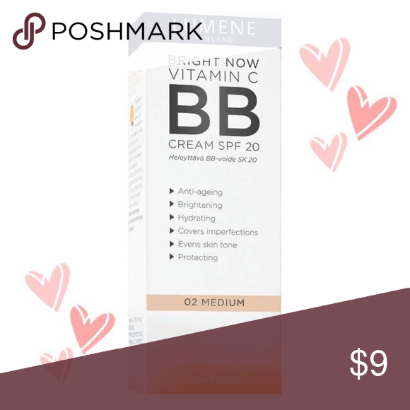 NIB Lumene Bright Vitamin C BB Cream w/SPF 20-Med NIB Lumene Bright Vitamin C BB Cream w/SPF 20-Med Anti-aging, brightening, covers imperfections, evens skintone, hydrates & protects skin from the sun. Light, moisturizing helps to even out the skin's natural tone & correct small imperfections. SPF 20 protects against the harmful rays of the sun. Your skin will have a natural, even tone. Suitable for all skin types 1.7oz  Your orders are a blessing & I'm grateful for your business! Thanks for…