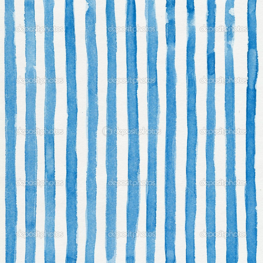 Watercolor striped background with vertical blue stripes