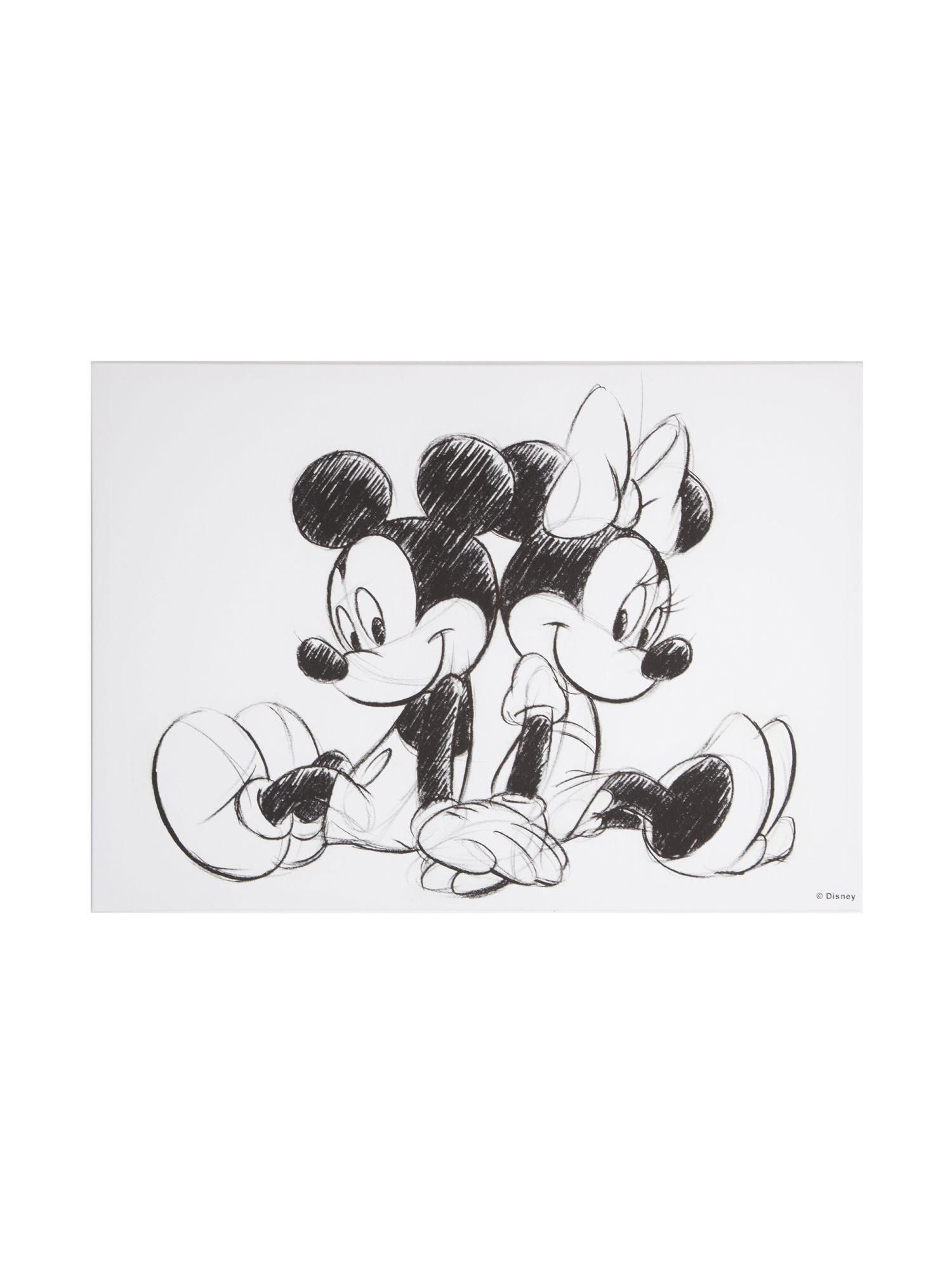 Buy Your Disney Frozen Retro Mickey Amp Minnie Sketch Canvas