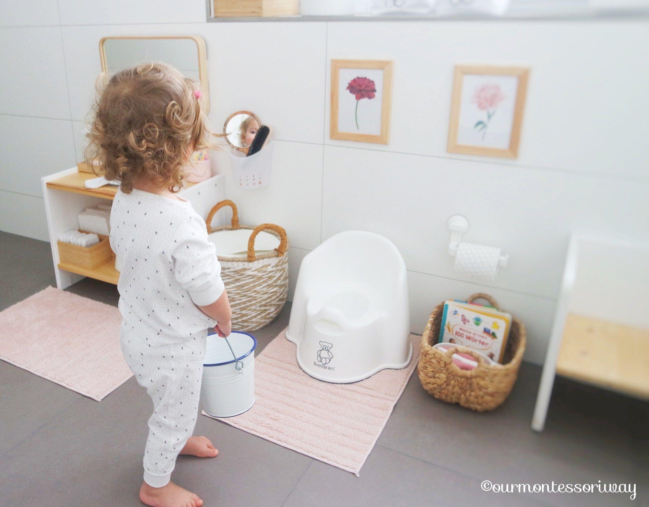 Cosimas Morgentoilette Mit 22 Monaten Eine Foto Story Ourmontessoriway In 2020 Kinder Badezimmer Kinder Badezimmer Ideen Babyzimmer Design